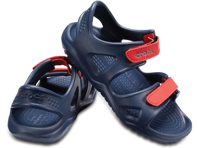 Crocs Swiftwater River Sandalen Kinder navy/flame